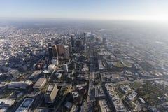 Antena de Los Ángeles en el centro de la ciudad Imagen de archivo libre de regalías