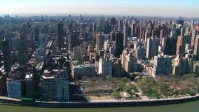 Antena de los edificios de Nueva York almacen de metraje de vídeo