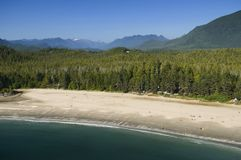 Antena de MacKenzie Beach, isla de Vancouver, A.C., Canadá Fotografía de archivo