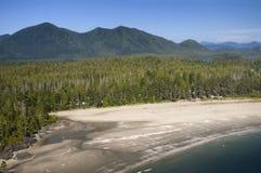 Antena de MacKenzie Beach, isla de Vancouver, A.C., Canadá Imagenes de archivo