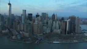Antena de Manhattan e de East River vídeos de arquivo