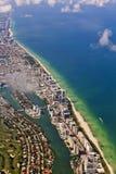 Antena de Miami Beach Foto de Stock