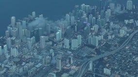 Antena de Miami en el centro de la ciudad metrajes
