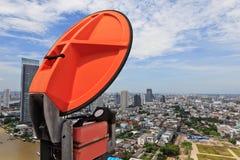 Antena de microonda Fotos de archivo libres de regalías