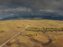 Antena de Montana Bird Refuge ocidental fotos de stock royalty free