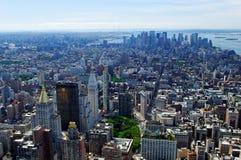 Antena de New York City foto de archivo libre de regalías