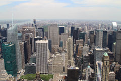 Antena de New York City Fotos de archivo libres de regalías