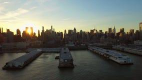 Antena de New York City metrajes
