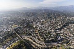 Antena de nordeste de Highland Park Los Ángeles Foto de archivo libre de regalías