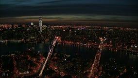 Antena de Nyc East River vídeos de arquivo