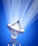 Antena de platos basados en los satélites - radar de Doppler Imagenes de archivo