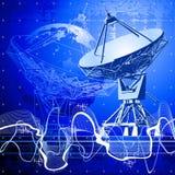 Antena de pratos satélites ilustração stock