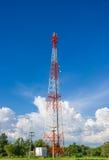 Antena de rádio da telecomunicação Fotos de Stock