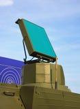 Antena de radar del sistema de la defensa aérea Imágenes de archivo libres de regalías