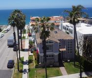 Antena de Redondo Beach 30 graus de zangão Foto de Stock