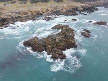Antena de Rocky Northern California Coastline Foto de Stock Royalty Free