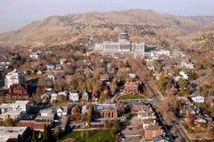 Antena de Salt Lake City céntrica Imágenes de archivo libres de regalías