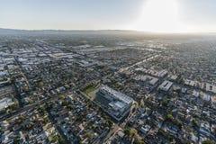 Antena de San Fernando Valley Late Afternoon Los Ángeles imágenes de archivo libres de regalías