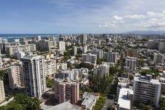 Antena de San Juan Puerto Rico Fotografía de archivo libre de regalías