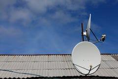 Antena de satélite Imagen de archivo