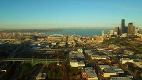 Antena de Seattle almacen de metraje de vídeo