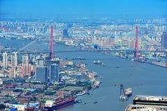 Antena de Shanghai no dia Imagem de Stock Royalty Free