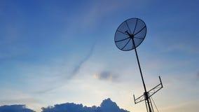 Antena de televisões Foto de Stock