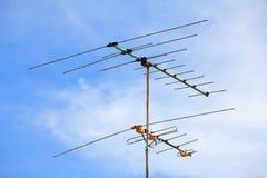 Antena de televisión Foto de archivo libre de regalías