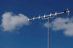 Antena de televisión de la frecuencia ultraelevada Imagenes de archivo