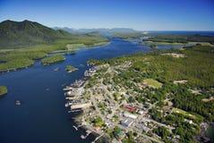 Antena de Tofino, ilha de Vancôver, BC, Canadá fotografia de stock