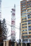 Antena de TV de la transmisión Imagenes de archivo