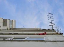 Antena de TV, Tirana, Albania imagenes de archivo