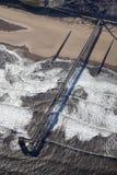 Antena de um molhe a uma planta do petróleo/gás Foto de Stock Royalty Free