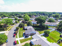 Antena de uma vizinhança em Parkville em Baltimore County, Maryl fotos de stock