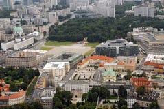 Antena de Varsovia en el centro de la ciudad Fotos de archivo libres de regalías