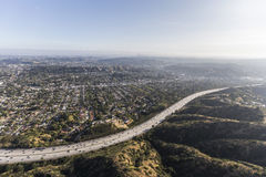 Antena de Ventura Freeway Eagle Rock California imagens de stock