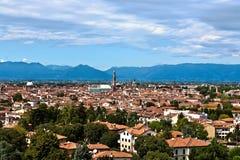 Antena de Vicenza em Itália, uma cidade com uma história e uma cultura ricas imagens de stock