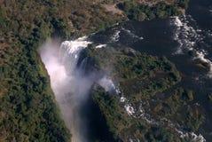 Antena de Victoria Falls imagenes de archivo