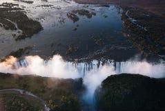 Antena de Victoria Falls Fotografía de archivo