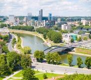 Antena de Vilnius fotografia de stock