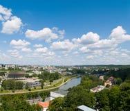 Antena de Vilnius imagens de stock royalty free