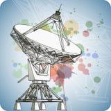 Antena dei riflettori parabolici - radar di doppler illustrazione di stock