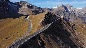 Antena del camino de Grossglockner, Austria almacen de video