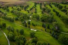 Antena del campo de golf fotografía de archivo
