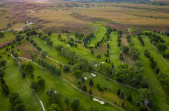 Antena del campo de golf fotos de archivo libres de regalías