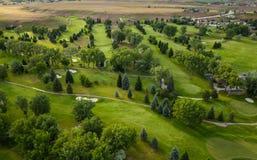 Antena del campo de golf foto de archivo libre de regalías