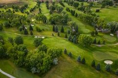 Antena del campo de golf imagen de archivo