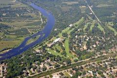 Antena del campo de golf de Brantford Imagenes de archivo