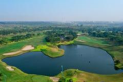 Antena del campo del golf Imagen de archivo
