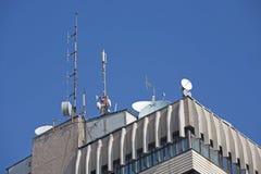 Antena del edificio Imagen de archivo libre de regalías